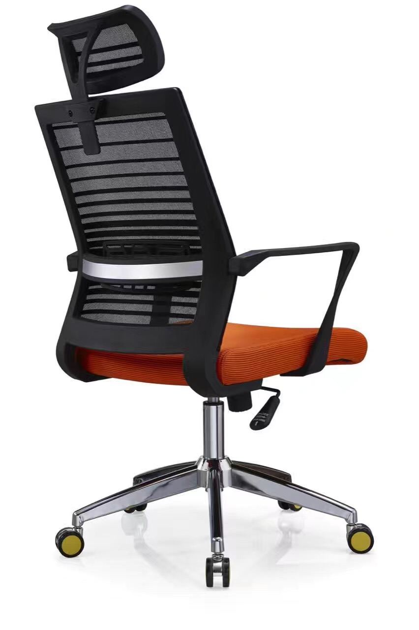 Ergonomic Black Mesh Office Relaxing Chair With Headrest