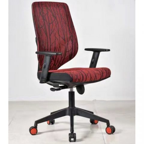 Modern Mid Back Fabric Office Chair Plastic Staff Task