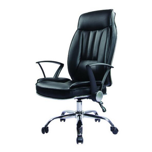 Comfortable Height Adjustable Recliner Brown Leather Boss