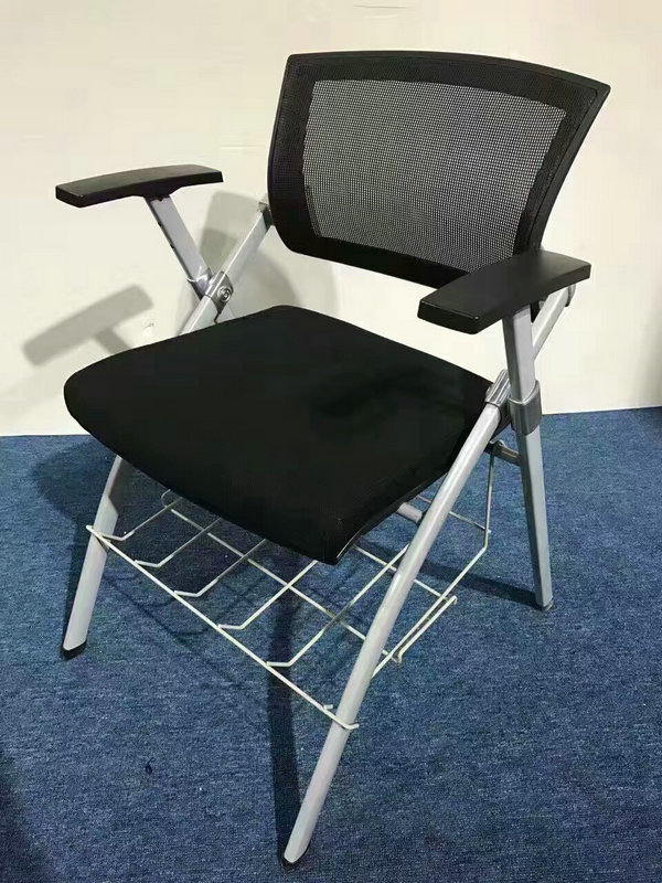 Cheap Folding Mesh Office Training Chair With Writing Pad