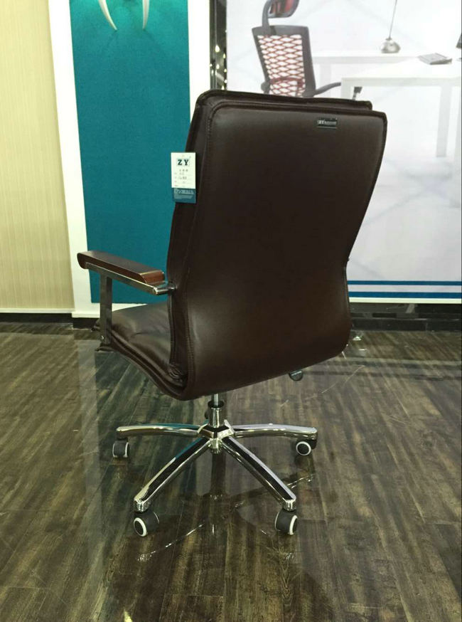 Imitation Leather Office Chair Senior Work Computer Chair Specifications Thicker Padded Meeting Room Chair With Arm Cheap Office Chairs And