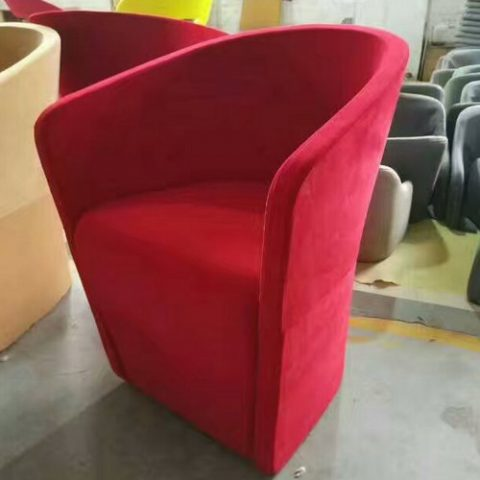 Cheap Fabric Coffee Shop Accent Chair Modern Leisure Sofa Hotel Lobby Chair  Indoor Furniture