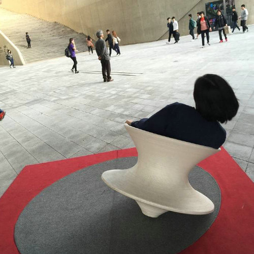 Spun By Thomas Heatherwick Magis Spun Rotating Lounge Chair Outdoor