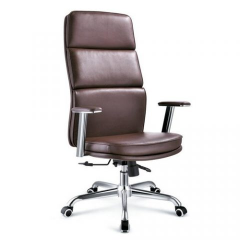 Top Grade Leather Ergonomic Height Adjule Executive Chair High Back Office Manager