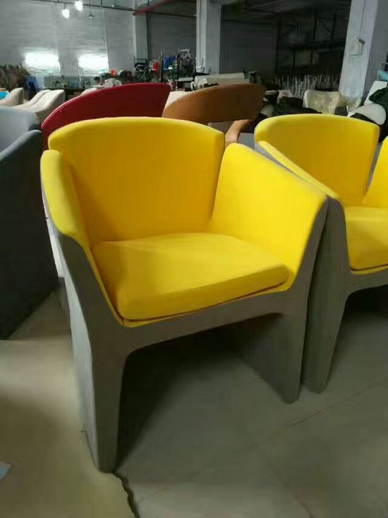 Fabric Single Living Room Chair Hotel Leisure Chair Coffee