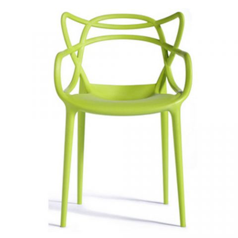 Modern Leisure Garden Replica Stackable Dining Chair Outdoor PP Plastic Eames  Chair