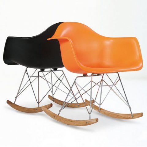 Modern Design Living Room Furniture Charles Eames Rar Rocker Plastic Chair