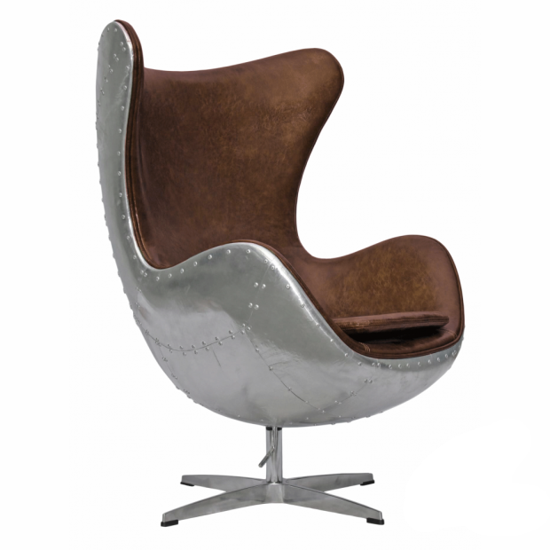 Modern leisure chair Living Room Vintage Genuine Leather Arne