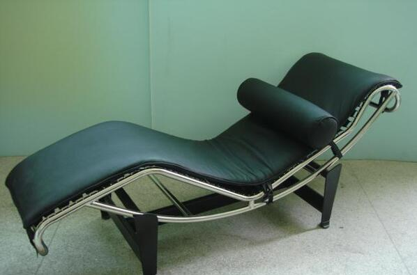 Modern Leather Le Corbusier Relax Chaise Longue Inspired