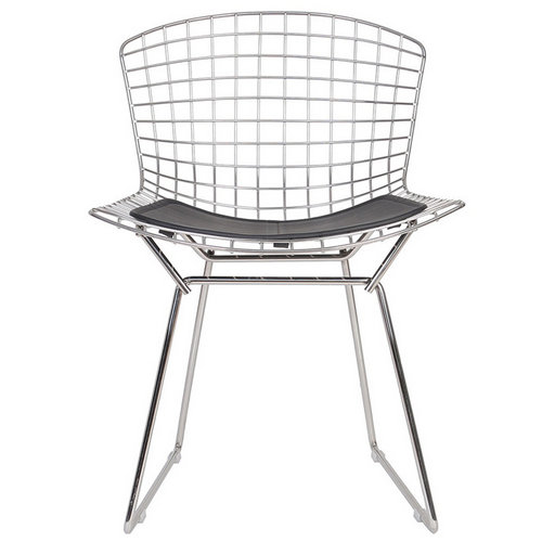 Modern Hollow Wire Mesh Relax Chair Dining Chair Diamond