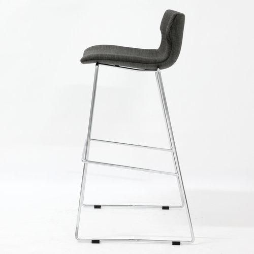 Metal Legs Fabric Seat Club Bar High Stool Counter