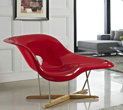 China Oem Charles Modern Fiberglass La Chaise Lounge Chair