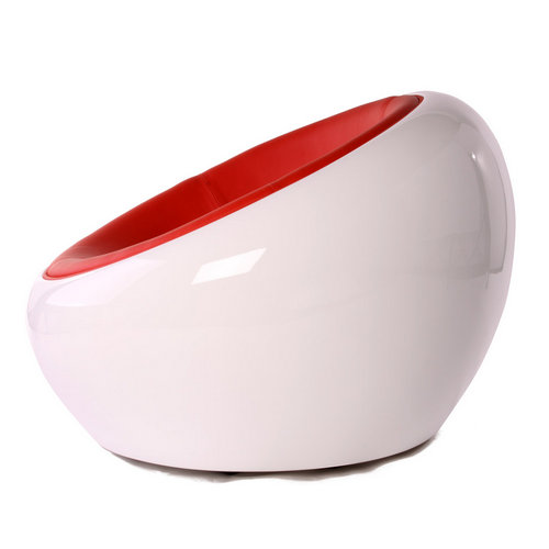Fiberglass Half Egg Pod Ball Scoop Chair Dome Chair Eero