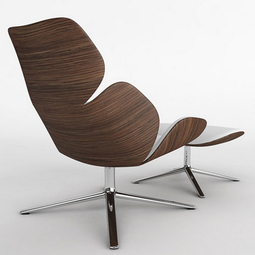 Scandinavian Design Laminated Plywood Shell Leisure Style