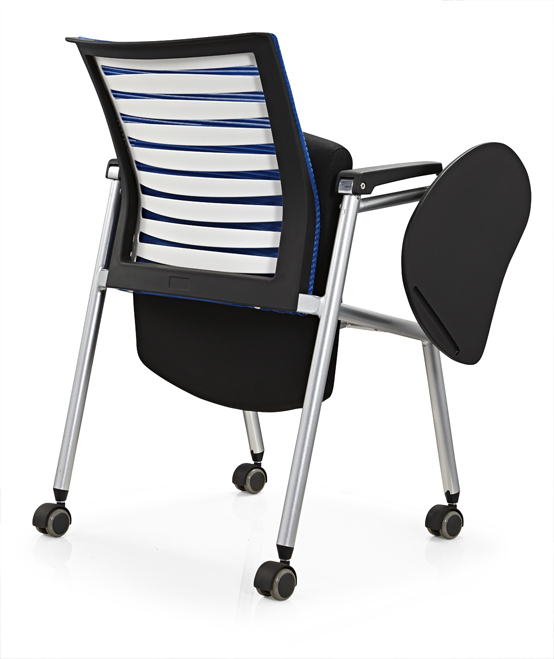 China Manufacturer Office Training Chair With Writing Pad