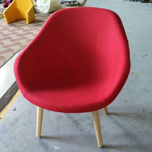 Compact Red Reception Chair. Finest Quality Faux Fabric. Robust Hardwood  Framework With Luxurious Deep Cushioning. Durable Mahogany Legs