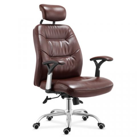 Tall Leather Brown Seating Concepts