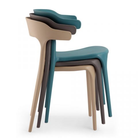 stackable plastic chairs. New Design Stackable Plastic Reception Dining Chair Bar Stool For Hotel Chairs L