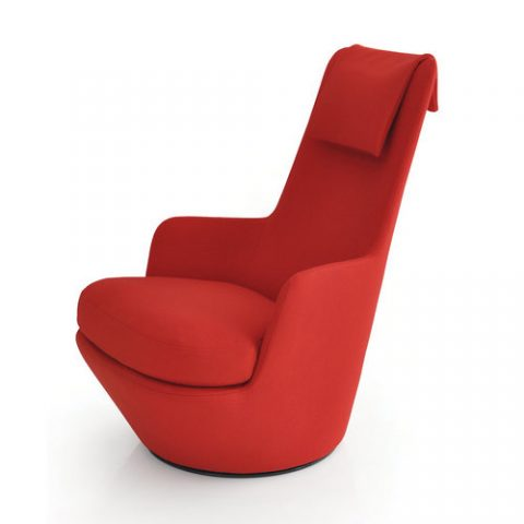 High End Cashmere Single Seater Sofa Chair For Office