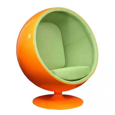Home Fiberglass Living Room Egg Chair Lounge Round Retro